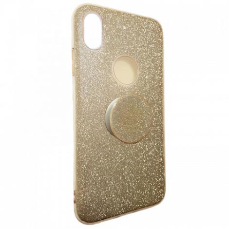 Capa Glitter Dourada Motorola G7 Power