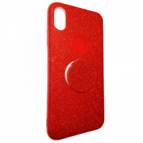 Capa Glitter Vermelha Galaxy S10 Lite