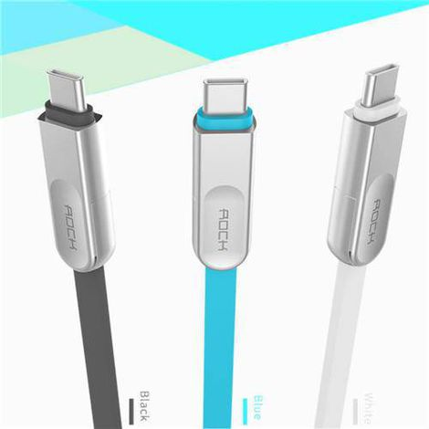 Cabo Cobblestone 3 em 1 Charge & Sync Flat Cable ( Lightning & Micro USB & Type C ) Branco
