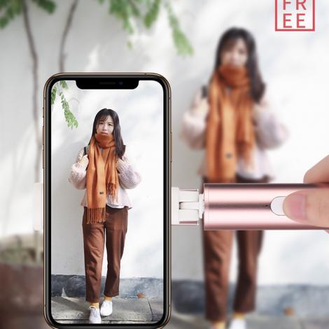 Monopod Selfie Stick Bluetooth Magic Flaute da ROCK Rosa