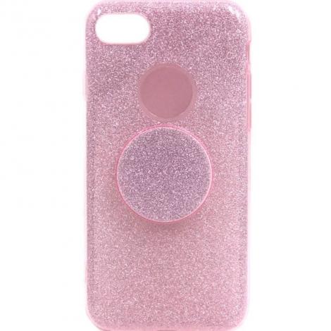 Capa Glitter Rosa A8 Plus