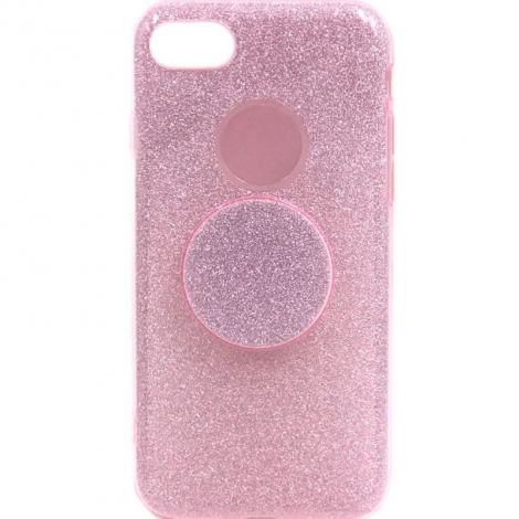 Capa Glitter Rosa J7 Neo