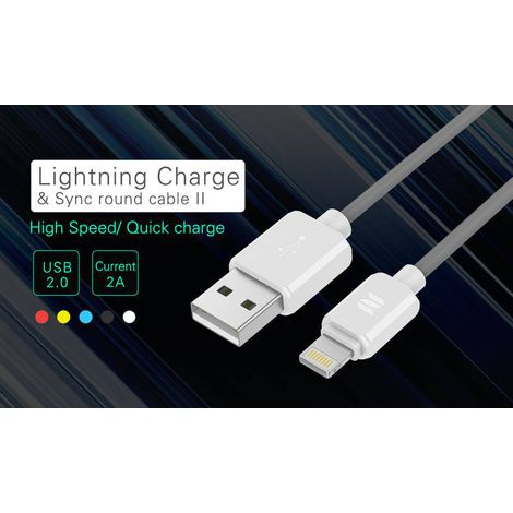 Cabo Lightning Charge & Sync Round II 5V/2.0A - 1M