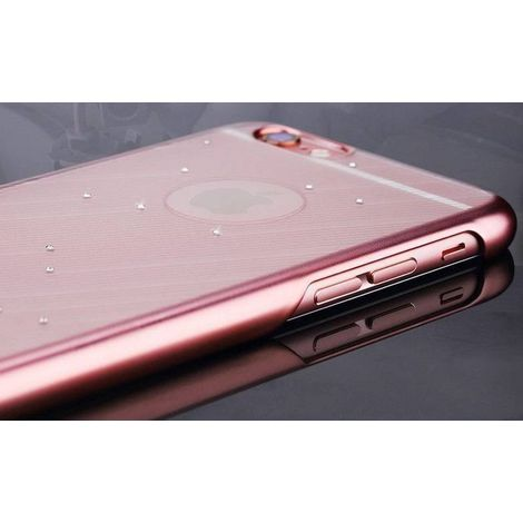 Capa Meteor Series com Crystais iPhone 6 / 6s Plus - Dourado Rosa